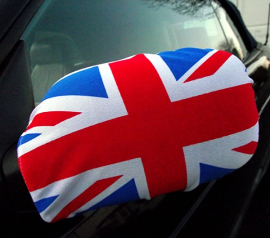 Cheap Wholesale UK Car Mirror Flag Cover Printed