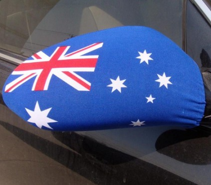 Polyester Car Wing Mirror Australia Flag Cover Design