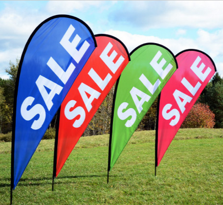 Cheap Custom Printing Advertising Wind Flag With Pole