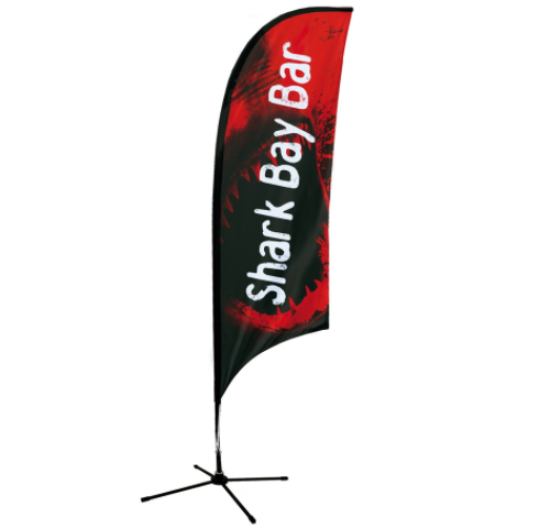 Advertising Flags Cheap Knitted Polyester Swooper Flags Custom