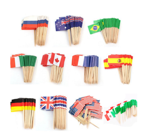 Low Price Custom Toothpick National Flags Of The World
