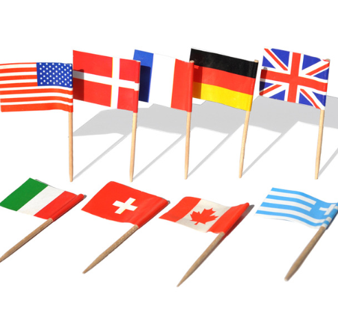 Best selling printed paper toothpick country flag