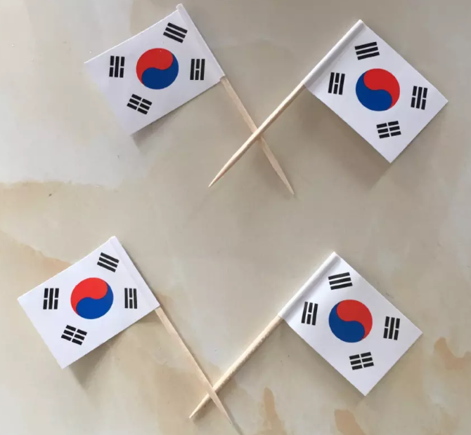 Printed Paper Cocktail Wooden Toothpick Flag Wholesale
