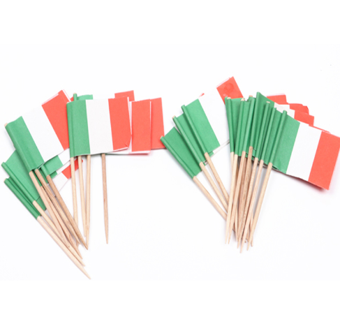Hot sale customize printing Italy toothpick flag