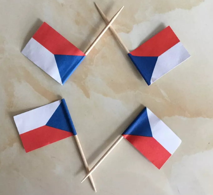 Factory Wholesale Mini Paper flag with Toothpick Stick