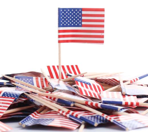 Factory custom disposable wooden national toothpick flag